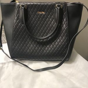 Calvin Klein Black Quilt-look Tote Bag